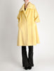 Lilli Ann Vintage Banana Yellow Wool Mohair Swing Coat - Amarcord Vintage Fashion  - 3