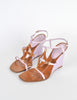 Louis Vuitton Brown and Orchid Strappy Wedge Sandals - Amarcord Vintage Fashion  - 2