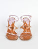 Louis Vuitton Brown and Orchid Strappy Wedge Sandals - Amarcord Vintage Fashion  - 4