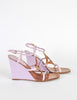 Louis Vuitton Brown and Orchid Strappy Wedge Sandals - Amarcord Vintage Fashion  - 5