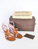 Louis Vuitton Brown and Orchid Strappy Wedge Sandals - Amarcord Vintage Fashion  - 8