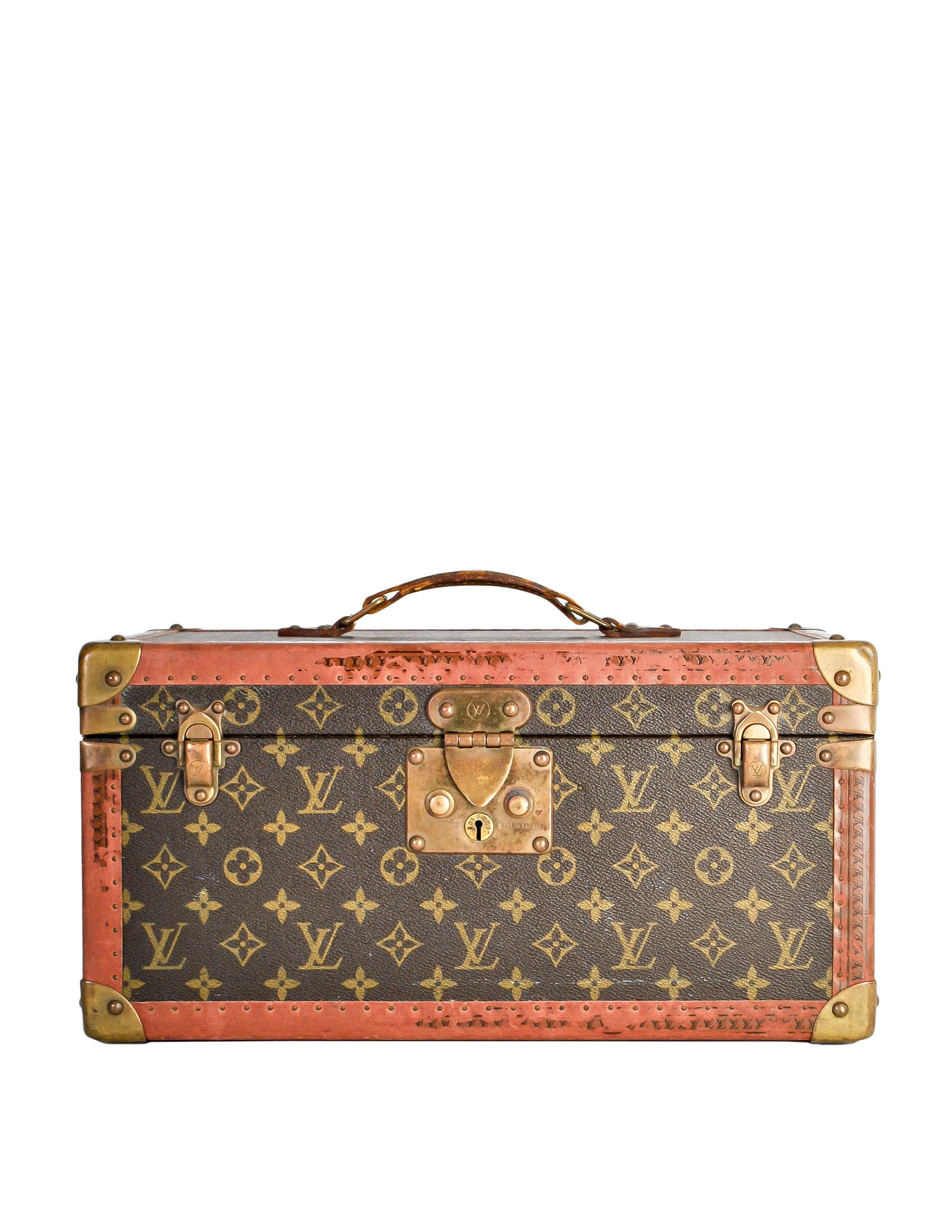 Louis Vuitton Vintage Monogram Train Case - Amarcord Vintage Fashion  - 1