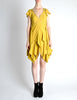 Louis Vuitton Mustard Yellow Wool Crepe Dress - Amarcord Vintage Fashion  - 3