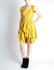 Louis Vuitton Mustard Yellow Wool Crepe Dress - Amarcord Vintage Fashion  - 5