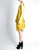 Louis Vuitton Mustard Yellow Wool Crepe Dress - Amarcord Vintage Fashion  - 7