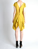 Louis Vuitton Mustard Yellow Wool Crepe Dress - Amarcord Vintage Fashion  - 8