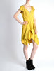 Louis Vuitton Mustard Yellow Wool Crepe Dress - Amarcord Vintage Fashion  - 4