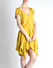 Louis Vuitton Mustard Yellow Wool Crepe Dress - Amarcord Vintage Fashion  - 2