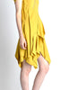 Louis Vuitton Mustard Yellow Wool Crepe Dress - Amarcord Vintage Fashion  - 6