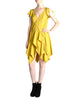 Louis Vuitton Mustard Yellow Wool Crepe Dress - Amarcord Vintage Fashion  - 1
