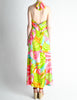 Malcolm Starr Vintage Colorful Psychedelic Op Art Maxi Dress - Amarcord Vintage Fashion  - 6