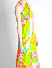 Malcolm Starr Vintage Colorful Psychedelic Op Art Maxi Dress - Amarcord Vintage Fashion  - 4