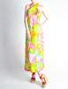 Malcolm Starr Vintage Colorful Psychedelic Op Art Maxi Dress - Amarcord Vintage Fashion  - 5