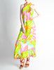 Malcolm Starr Vintage Colorful Psychedelic Op Art Maxi Dress - Amarcord Vintage Fashion  - 2