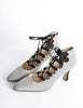 Manolo Blahnik Vintage Striped Lace Up Heels - Amarcord Vintage Fashion  - 5