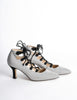 Manolo Blahnik Vintage Striped Lace Up Heels - Amarcord Vintage Fashion  - 4