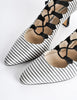 Manolo Blahnik Vintage Striped Lace Up Heels - Amarcord Vintage Fashion  - 3