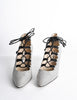 Manolo Blahnik Vintage Striped Lace Up Heels - Amarcord Vintage Fashion  - 2