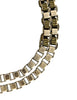 Mawi Vintage Woven Gunmetal Silver Gold Black Box Link Necklace and Bracelet Set