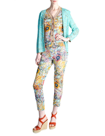 Missoni Vintage Floral Knit Three Piece Set