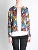 Missoni Vintage 'Patchwork' Print Knit Cardigan Sweater - Amarcord Vintage Fashion  - 3