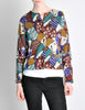 Missoni Vintage 'Patchwork' Print Knit Cardigan Sweater - Amarcord Vintage Fashion  - 2