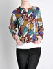 Missoni Vintage 'Patchwork' Print Knit Cardigan Sweater - Amarcord Vintage Fashion  - 4