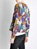 Missoni Vintage 'Patchwork' Print Knit Cardigan Sweater - Amarcord Vintage Fashion  - 6