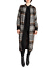 Missoni Vintage Brown Black Plaid Mohair Wool Oversized Maxi Sweater Coat