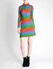 Emmanuelle Khanh for Missoni Vintage Multicolor Chevron Knit Mini Dress - Amarcord Vintage Fashion  - 2