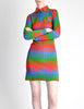 Emmanuelle Khanh for Missoni Vintage Multicolor Chevron Knit Mini Dress - Amarcord Vintage Fashion  - 3