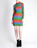 Emmanuelle Khanh for Missoni Vintage Multicolor Chevron Knit Mini Dress - Amarcord Vintage Fashion  - 4