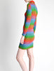 Emmanuelle Khanh for Missoni Vintage Multicolor Chevron Knit Mini Dress - Amarcord Vintage Fashion  - 7