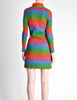 Emmanuelle Khanh for Missoni Vintage Multicolor Chevron Knit Mini Dress - Amarcord Vintage Fashion  - 8