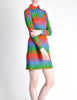 Emmanuelle Khanh for Missoni Vintage Multicolor Chevron Knit Mini Dress - Amarcord Vintage Fashion  - 5