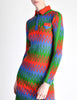 Emmanuelle Khanh for Missoni Vintage Multicolor Chevron Knit Mini Dress - Amarcord Vintage Fashion  - 6