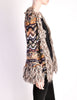 Missoni Vintage Chunky Multicolor Shaggy Collar Cardigan Sweater - Amarcord Vintage Fashion  - 5