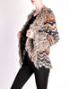 Missoni Vintage Chunky Multicolor Shaggy Collar Cardigan Sweater - Amarcord Vintage Fashion  - 6