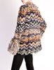 Missoni Vintage Chunky Multicolor Shaggy Collar Cardigan Sweater - Amarcord Vintage Fashion  - 3