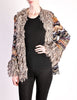 Missoni Vintage Chunky Multicolor Shaggy Collar Cardigan Sweater - Amarcord Vintage Fashion  - 4