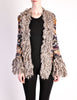 Missoni Vintage Chunky Multicolor Shaggy Collar Cardigan Sweater - Amarcord Vintage Fashion  - 2