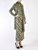 Missoni Vintage Green Patterned Knit Sweater, Scarf and Skirt Ensemble Set - Amarcord Vintage Fashion  - 3