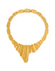 Monet Vintage Gold Modernist Necklace - Amarcord Vintage Fashion  - 1