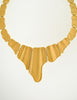 Monet Vintage Gold Modernist Necklace - Amarcord Vintage Fashion  - 2