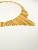 Monet Vintage Gold Modernist Necklace - Amarcord Vintage Fashion  - 4