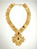 Monet Vintage Pas d'or Gold Geometric Necklace - Amarcord Vintage Fashion  - 2