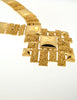 Monet Vintage Pas d'or Gold Geometric Necklace - Amarcord Vintage Fashion  - 4