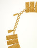 Monet Vintage Pas d'or Gold Geometric Necklace - Amarcord Vintage Fashion  - 6