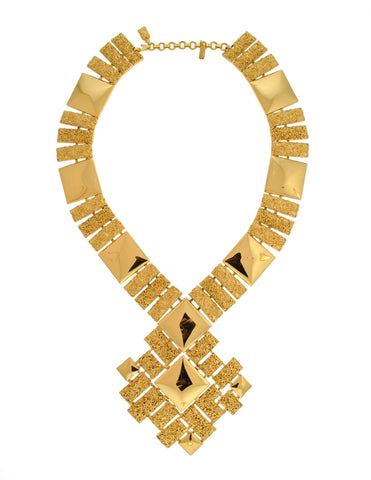 Monet Vintage Pas d'or Gold Geometric Necklace