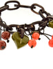 Moschino Vintage Cherry Chain Necklace and Bracelet Set